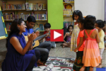 Interactive Goan folk at MCubed Library - with Heloise and Clint
