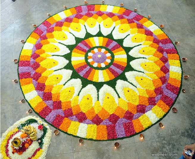 Pookalam: Designer Flower Carpets made by the Faithful