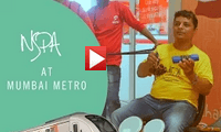 NSPA | Busking at the Mumbai Metro | Manoj Pandya